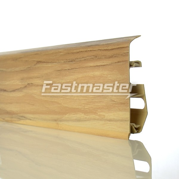 fussleisten pvc 2 5m sockelleisten laminat sockelleiste kabelkanal 70mm neu top ebay. Black Bedroom Furniture Sets. Home Design Ideas